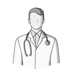 doctorprofessions single icon in monochrome style vector image