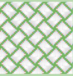 white paper envelope seamless pattern vector image