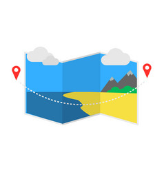 Delivery icon with pin pointer on map vector