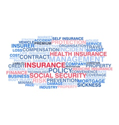 Insurance word cloud vector