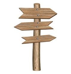 Retro wooden arrows vector