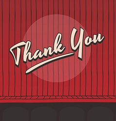 Thank you live stage red curtain vector
