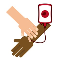 Donate blood vector