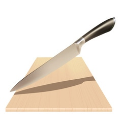 A knife and a board vector