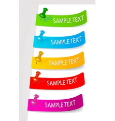 Set of color tags vector