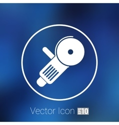 Simple icon angle grinder electro work vector