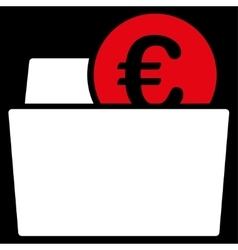 Wallet icon from BiColor Euro Banking Set vector image