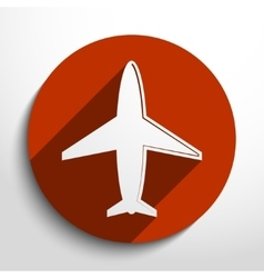 Airplane web icon vector