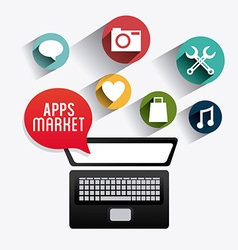 Apps market design vector