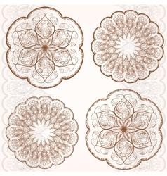 Set decorative circular ornaments classic pattern vector image
