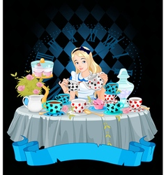 Alice takes tea cup vector
