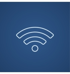Wifi sign line icon vector