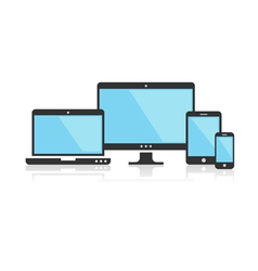 Multi device icons for presentation vector