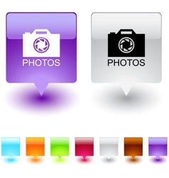 Photos square button vector