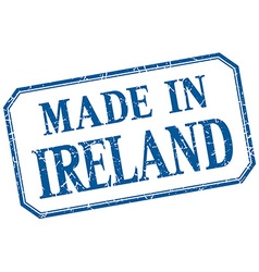 Ireland - made in blue vintage isolated label vector