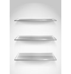 Display Shelves vector image