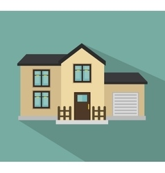 Beautiful mansion isolated icon design vector