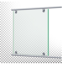 Advertising glass board banner mockup vector