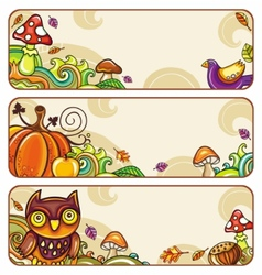 autumn banners part 4 vector image vector image