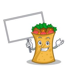 Bring board kebab wrap character cartoon vector