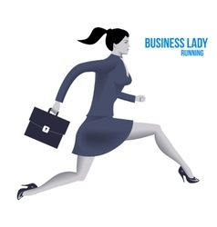 Business lady running template vector