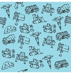 Construction machinery pattern vector
