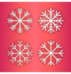 Design set of snowflakes vector image