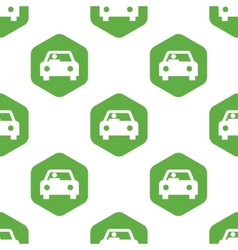 Driver in car pattern vector