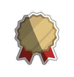 emblem badge ribbon vector image