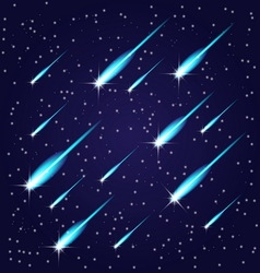 Flying meteors vector