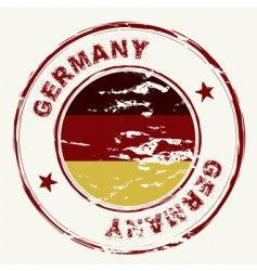 Germany ink stamp vector image