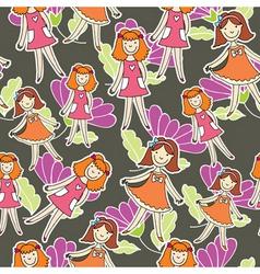 girlie flower pattern vector image vector image