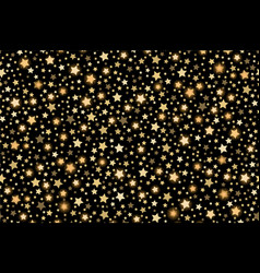 Gold shining falling stars seamless texture gold vector
