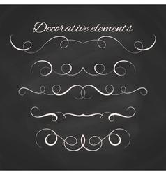 Hand drawn dividers set Decorative borders set vector image vector image