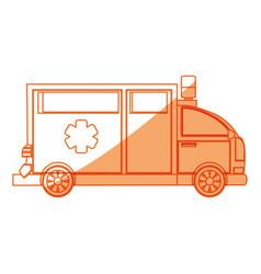 Isolated ambulance truck vector