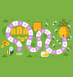 kids honey board game vector image