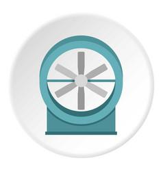 Modern heater icon circle vector