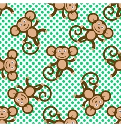 Monkey kid seamless pattern for textile vector