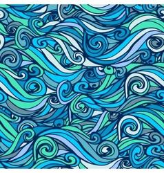 Seamless marine wave patterns vector
