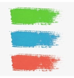 Set of colored paint-splatter The color vector image