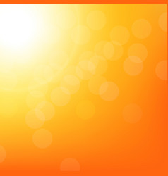 Sunbeam background with bokeh vector