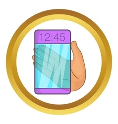 Transparent smartphone icon vector image