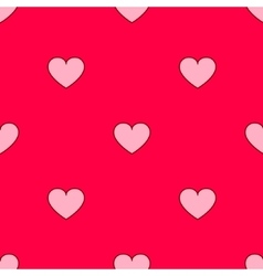 valentines hearts seamless pattern Wedding vector image