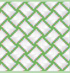 white paper envelope seamless pattern vector image