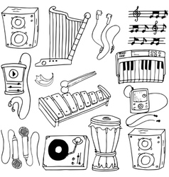 Doodle of music object theme vector image