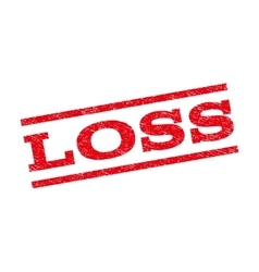 Loss watermark stamp vector