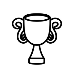 Trophy win sport award icon outline vector