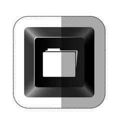 black button file icon vector image