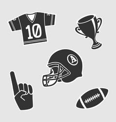 American football symbol vector
