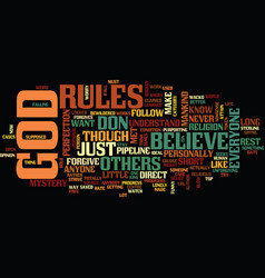 The mystery that is god text background word vector